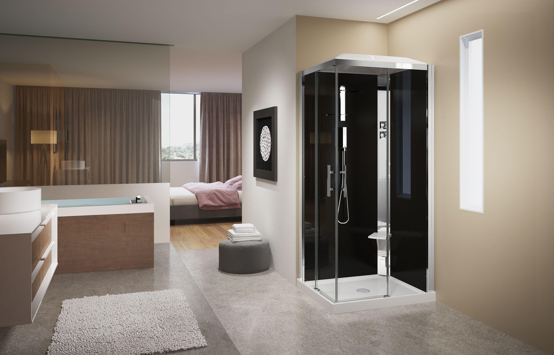 cabines de douche crystal a 100x80 hydromassage novellini. Black Bedroom Furniture Sets. Home Design Ideas