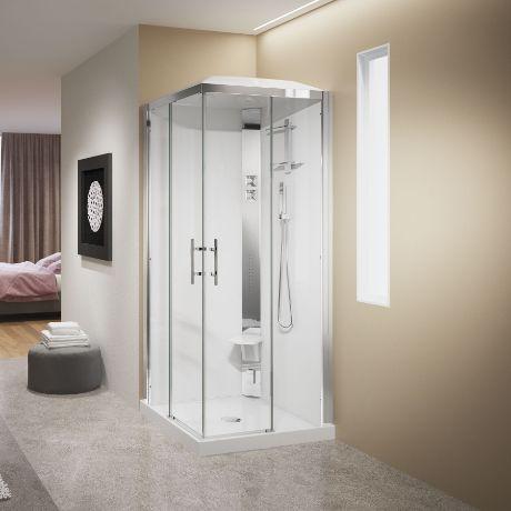 Cabines de douche crystal a80 a90 hydromassage novellini - Notice de montage cabine de douche ...