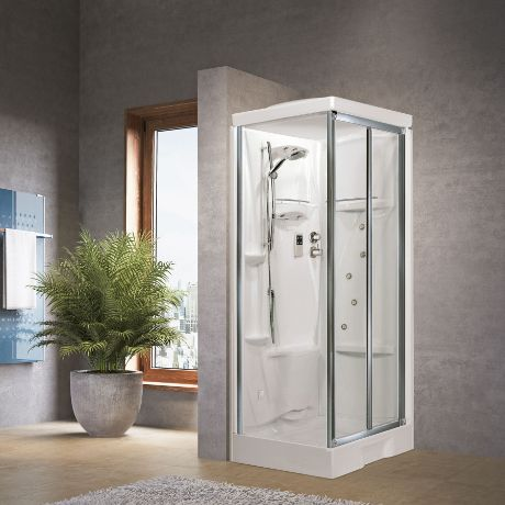 Cabines de douche new holiday sf 100x80 hydro novellini - Notice cabine de douche ...